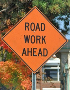 Road Work Ahead, the most common and most dreaded sign in our fair cities!