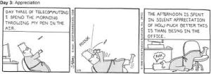 Dilbert work at home