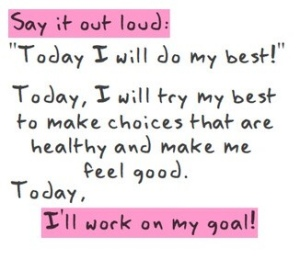 I will work on my goal
