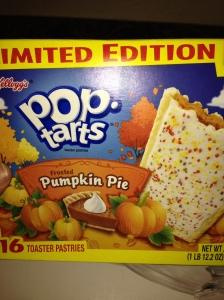 Pop-tarts pumpkin pie
