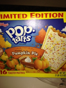 Pop-tarts pumpkin pie