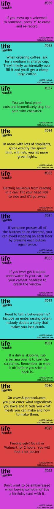 Life hack list