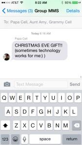 Christmas Eve Gift text