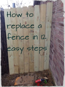 How to replace a fence in 12 easy steps