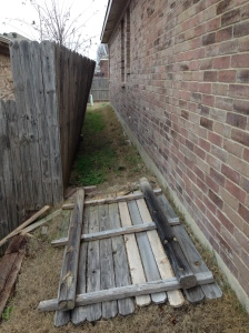 my fence fell down
