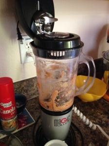 Magic bullet blender for chickpea choc chip cookies