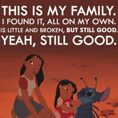 This is my family, I found it, all on my own.  Is little and broken, but still good.  Yeah, still good.  Did That Just Happen Blog