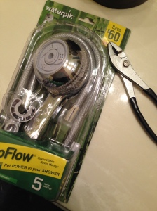 Gathering your supplies to replace your broken shower head | Did That Just Happen Blog