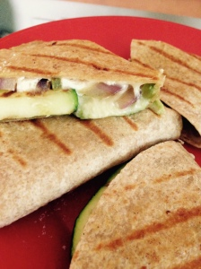 Grilled veggie quesadillas, warm, melty and full of flavor at Did That Just Happen Blog
