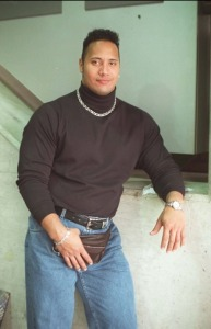 The Rock rocking his fanny pack on Did That Just Happen Blog