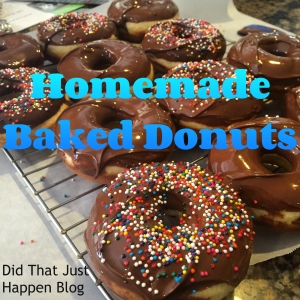 Homemade Baked Donuts at Did That Just Happen Blog.  Stir, bake and 8 minutes later it's yummy in your tummy!