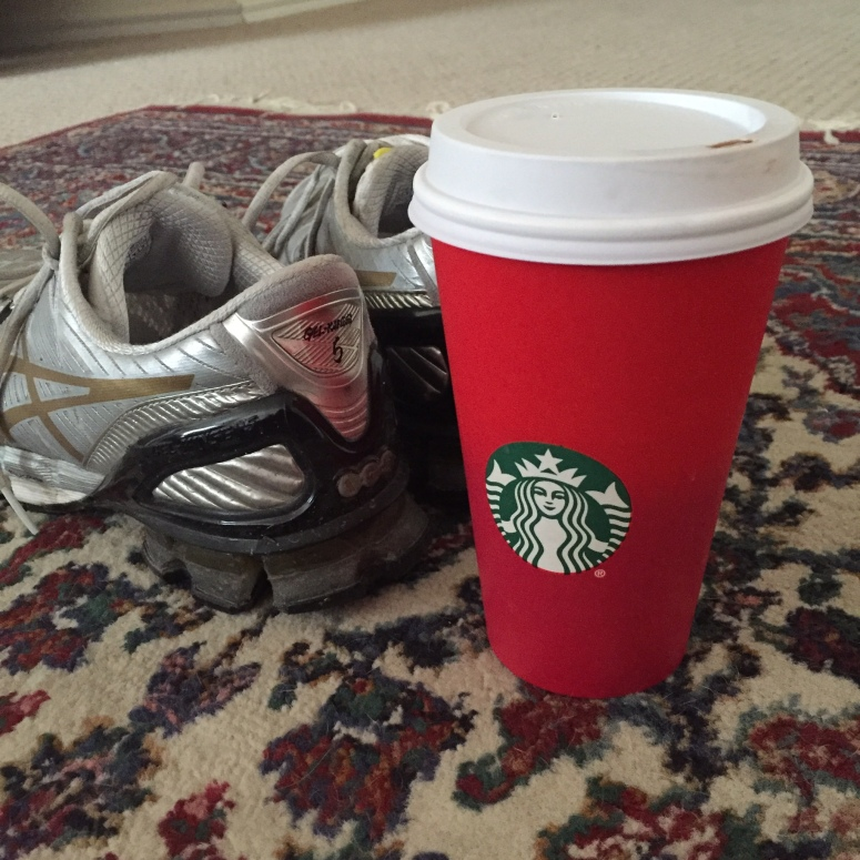Starbucks and Running Shoes, pretty much sums up my life at Did That Just Happen Blog