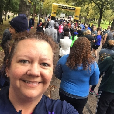 At the start line of my first 5k! Did That Just Happen Blog