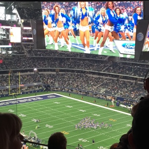 Cowboys v Seahawks big screen at Did That Just Happen Blog