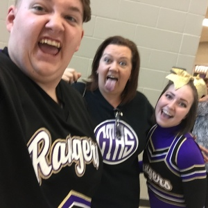 Silly faces made by cheerleaders at Did That Just Happen blog
