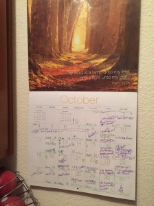 October Calendar for Did That Just Happen Blog