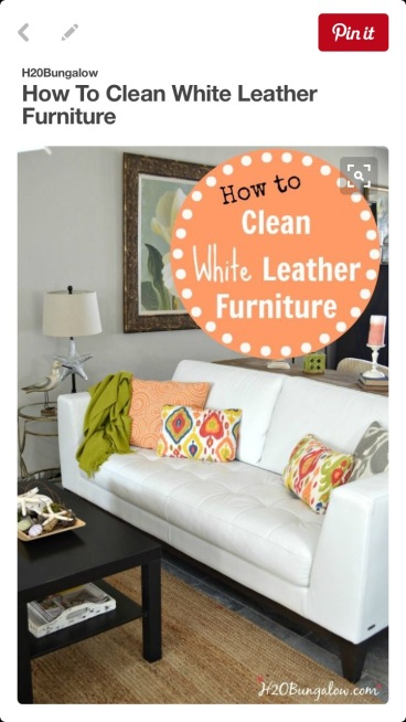 How to clean white furniture at Did That Just Happen Blog