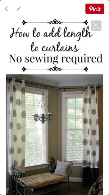 How to extend your curtains at Did That Just Happen Blog
