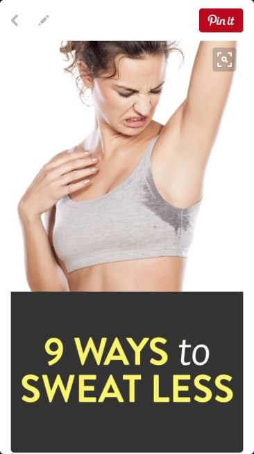 How to sweat less at Did That Just Happen Blog