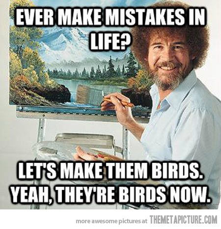 Ever make mistakes in life - let's make them birds at Did That Just Happen Blog