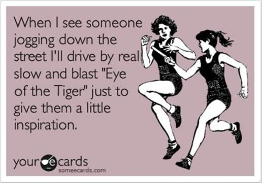 Eye of the Tiger power song at Did That Just Happen Blog