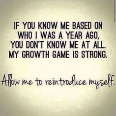 My growth game is strong at Did That Just Happen Blog