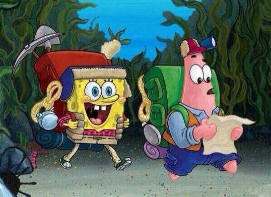 Spongebob-Patrick-Arrive-At-College-As-Freshmen