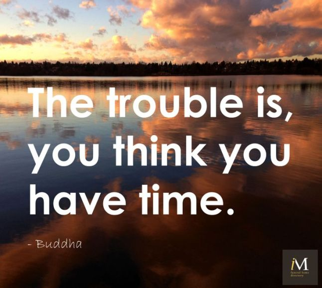 The trouble is you think you have time_Buddha at Did That Just Happen Blog
