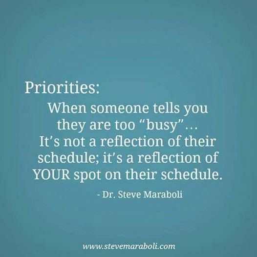 Priorities are making time for others at Did That Just Happen Blog