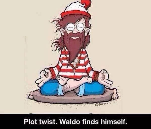 Plot Twist. Waldo finds himself at Did That Just Happen Blog